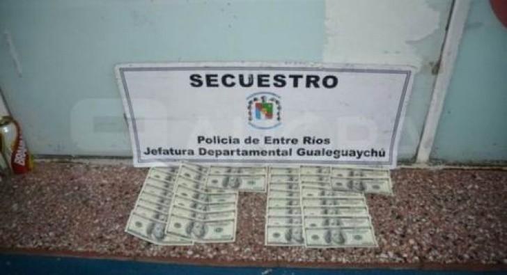 Atrapan a dos correntinos que pretendían cambiar dólares falsos