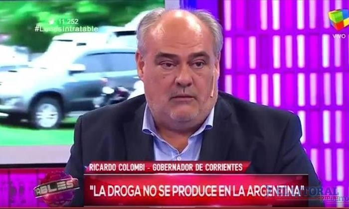 Programa de TV nacional pidió a Colombi explicaciones sobre el narcotráfico