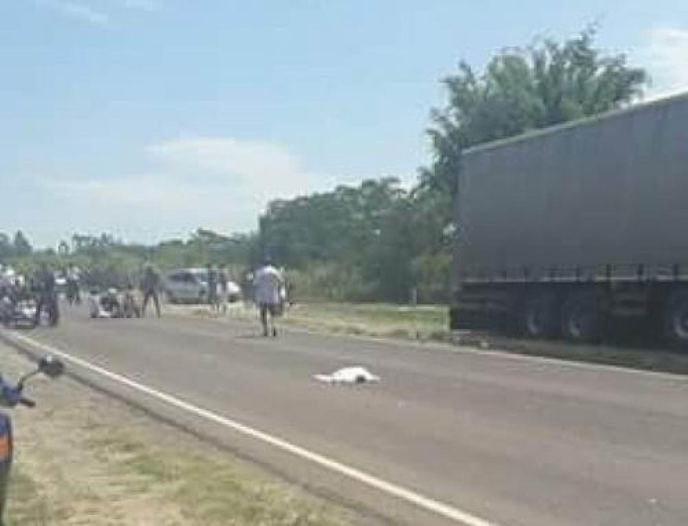 Siniestro vial entre moto y camión le costó la vida a un bebé de ocho meses
