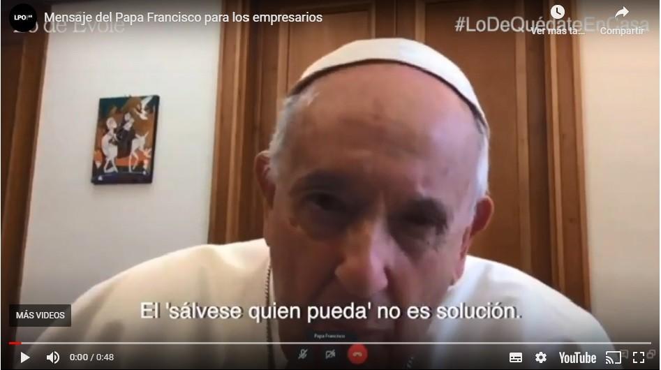 El Papa con un mensaje que interpela a Paolo Rocca: