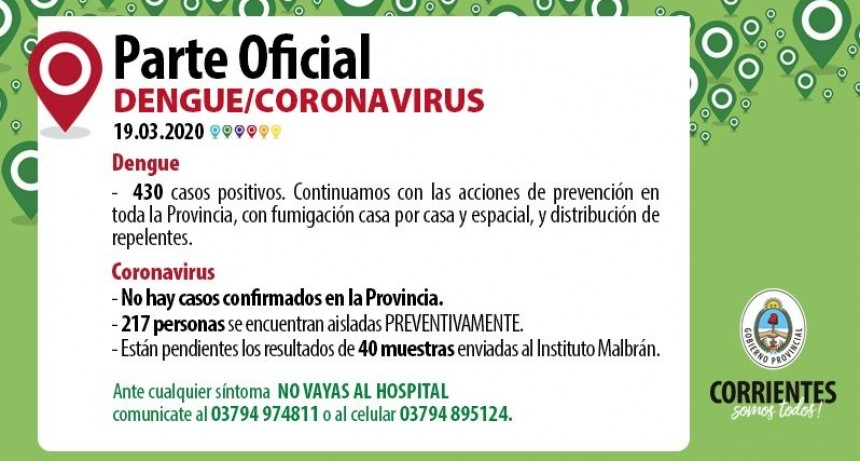 En Corrientes se esperan los resultados de 43 estudios de coronavirus