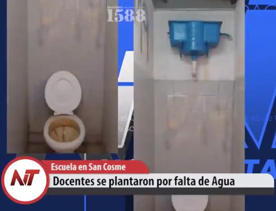 Escuela en San Cosme: se plantaron los docentes por falta de Agua
