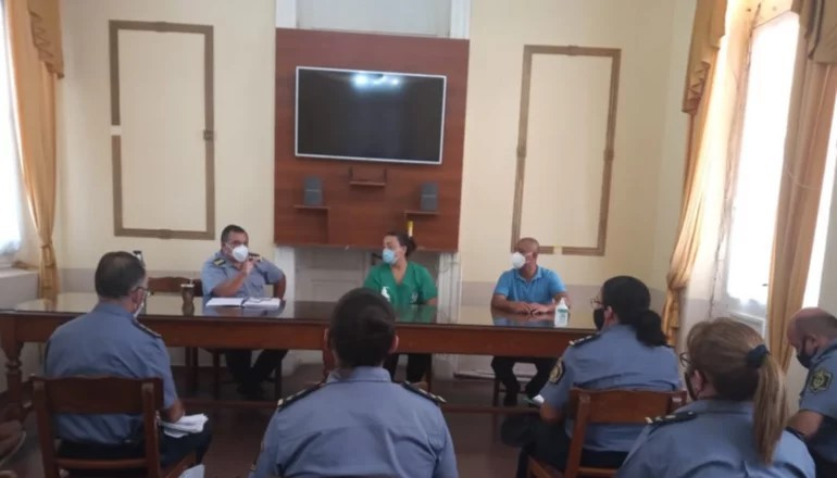 Se coordinó la campaña de vacunación para la Policía de la provincia