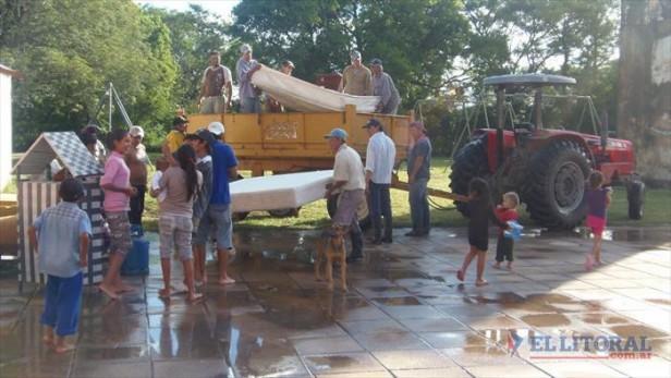 Reubicaron a los evacuados de San Luis y se reinician las clases