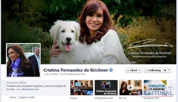 Cristina, líder de Facebook entre los presidentes regionales