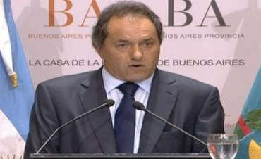 Scioli decretó la Emergencia en materia de Seguridad Pública para los próximos 12 meses