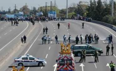 En la Panamericana hubo incidentes y heridos