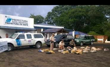 Secuestran 297 kilos de marihuana que eran transportados en un automóvil