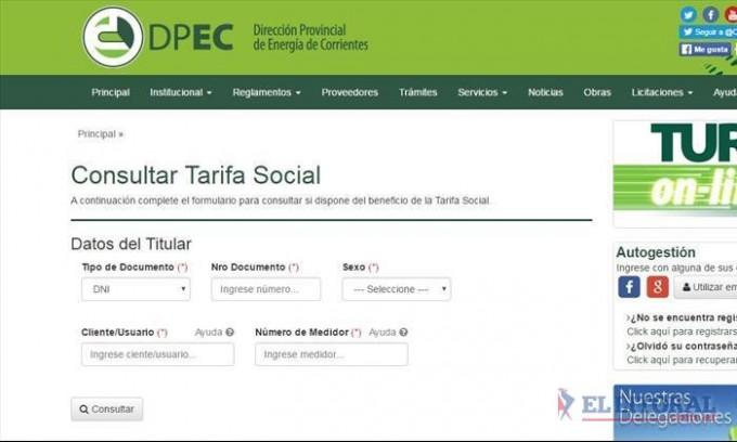 Al menos un tercio de los usuarios de la Dpec ingresó al sistema de tarifa social