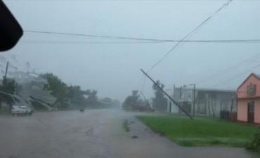 Tras el temporal, reparan casas, el tendido eléctrico y realizan un patrullaje especial