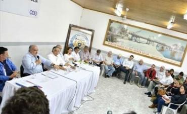 Colombi garantizó asistencia a los intendentes y darían casas para relocalizar a santaluceños