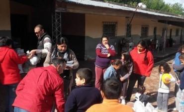 En Santa Lucía y Esquina reorganizan a los evacuados para retomar el dictado de clases