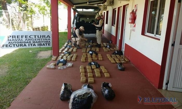 Secuestraron 156 kilos de marihuana en un parque acuático de Santo Tomé