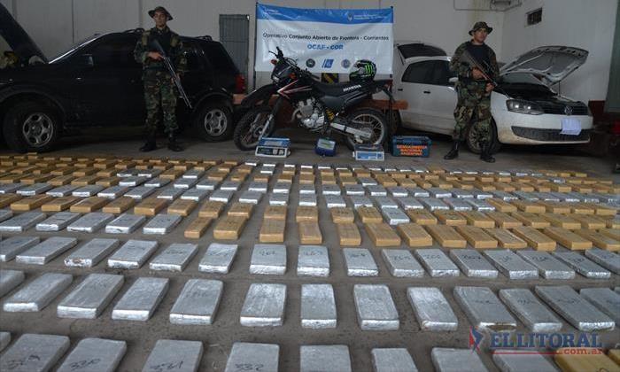 Hallan más de 690 kilos de marihuana en una vivienda del barrio Jardín
