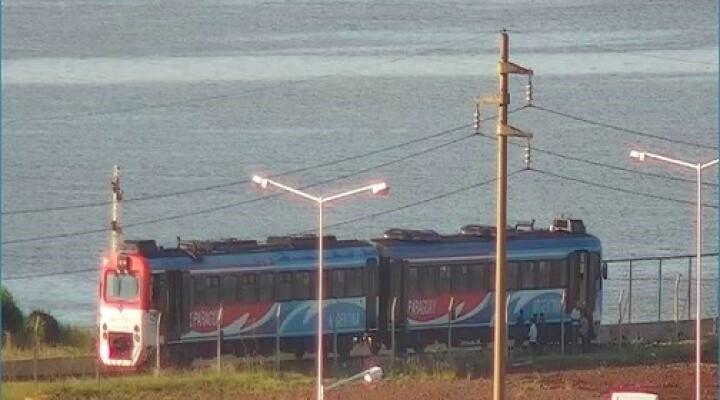 Descarriló el tren internacional Posadas-Encarnación.