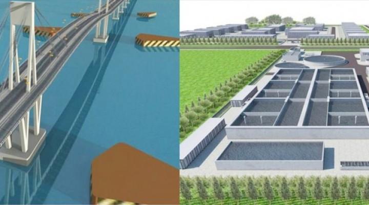 El Segundo Puente con el Chaco y la Planta Cloacal, se superponen