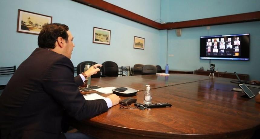 Valdés coordinó con intendentes la continuidad de acciones