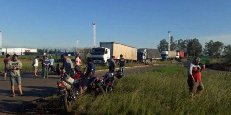 P. Libres: tensión con camioneros brasileños