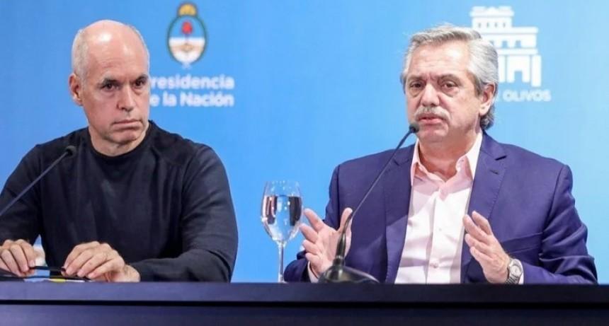 Tras los cruces por la suspensión de clases presenciales, Alberto Fernández se reunirá con Rodríguez Larreta