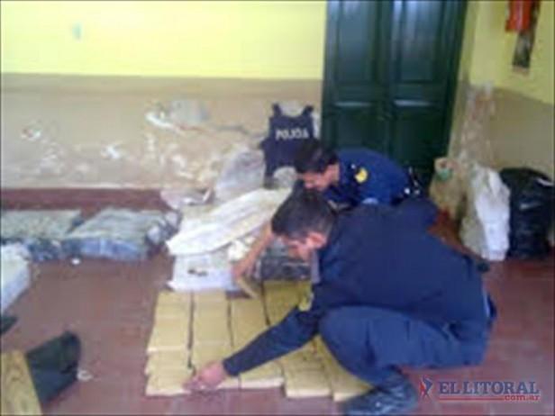 En sendos procedimientos la Policía secuestró unos 560 kilos de marihuana