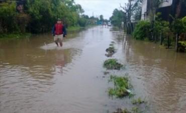 En varias localidades las intensas lluvias causaron problemas y anegamientos