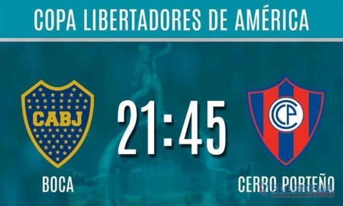 Boca recibe a Cerro Porteño en busca de cerrar su pase a los cuartos de final