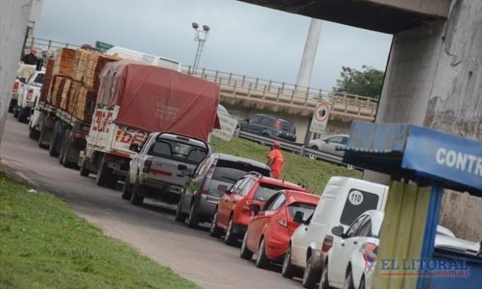 Con más de 23.000 vehículos por día, el puente es la ruta más transitada del NEA