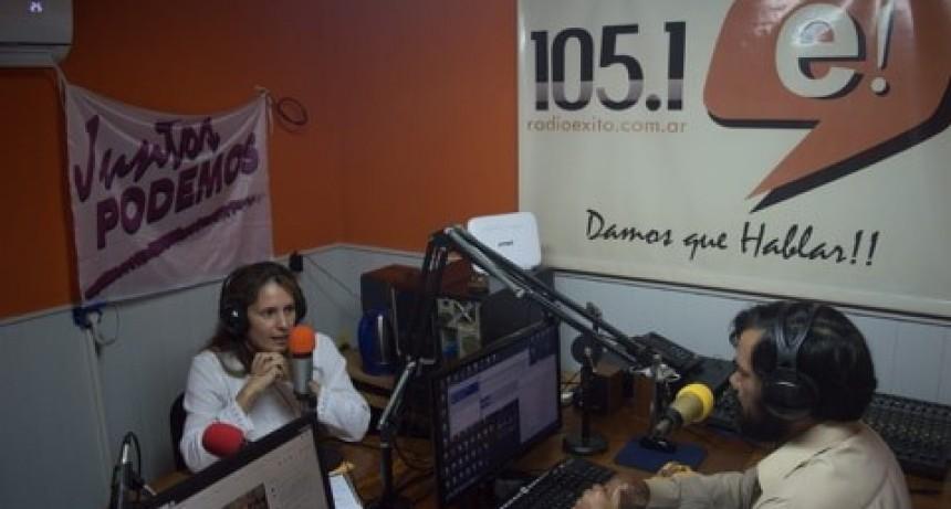 Nos visitó la Dra. Adriana Núñez, candidata a senadora  por el Movimiento Evita.