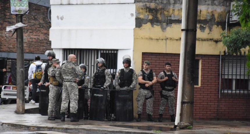 Piquete de organizaciones sociales terminó con incidentes con la Policía