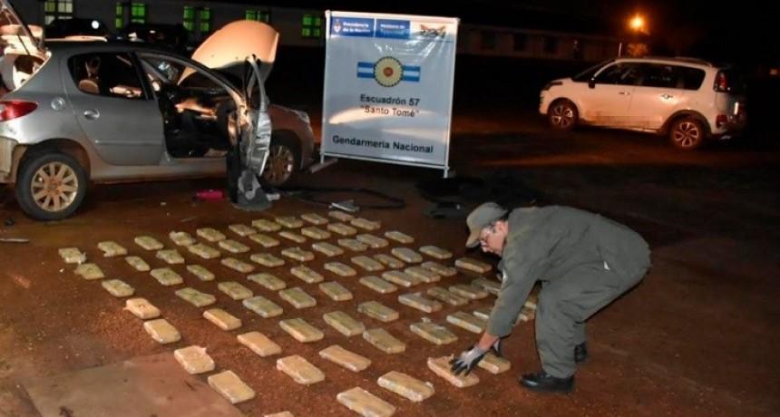 Santo Tomé: secuestraron más de 70 kilos de marihuana y detuvieron a dos hombres
