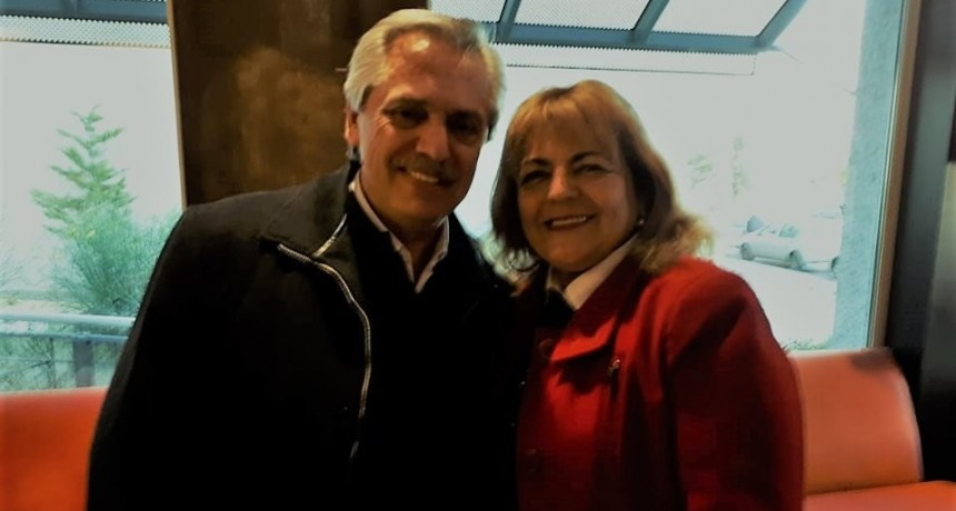 Intendenta se reunió con Alberto Fernández, el candidato a presidente