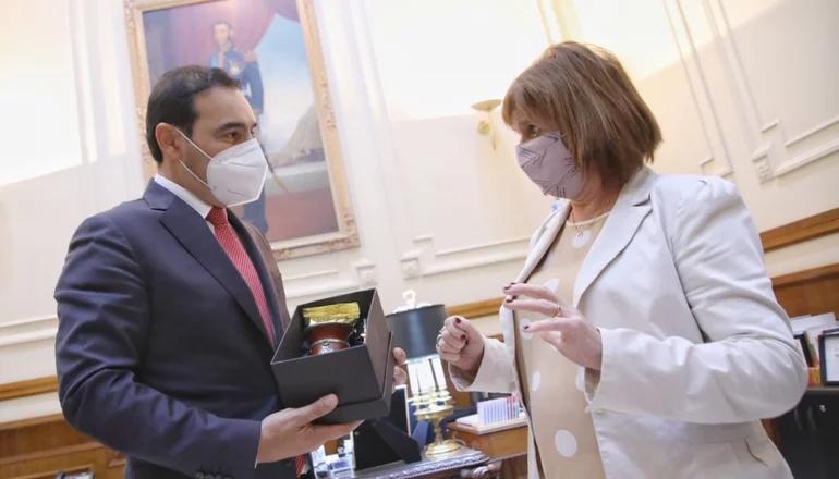 Valdés recibió a Patricia Bullrich en Casa de Gobierno