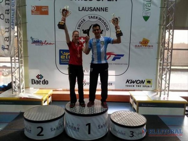 Sebastián Crismanich logró el oro en Suiza