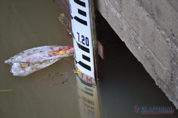 El Paraná llegó a los 7,09 metros pero para hoy se espera el pico de creciente