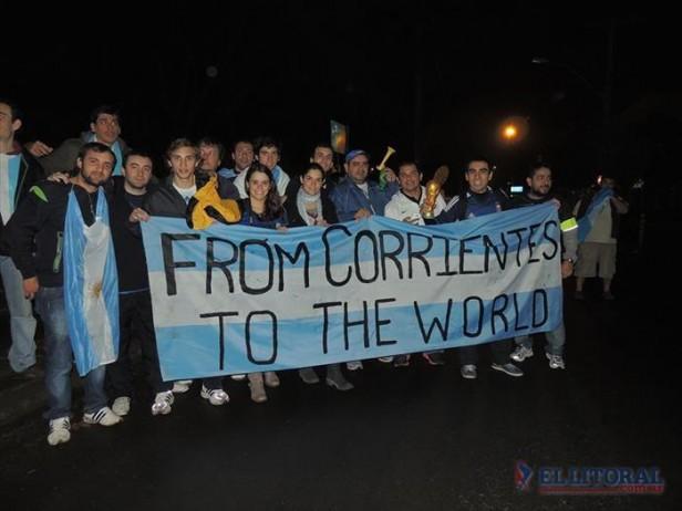 Los correntinos y el sueño mundialista