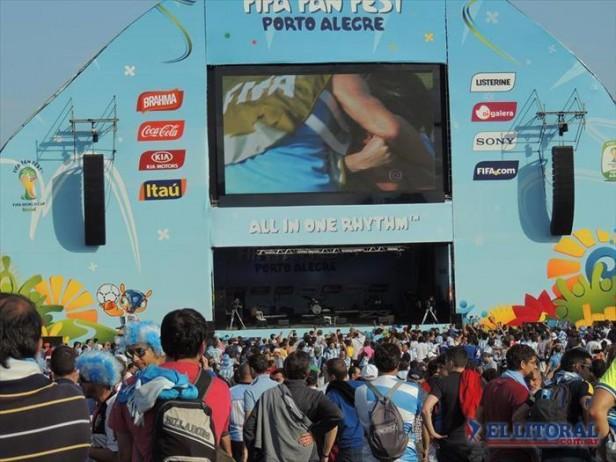 Con Kilómetro 11 cerró la jornada en el Fifa Fan Fest de Porto Alegre