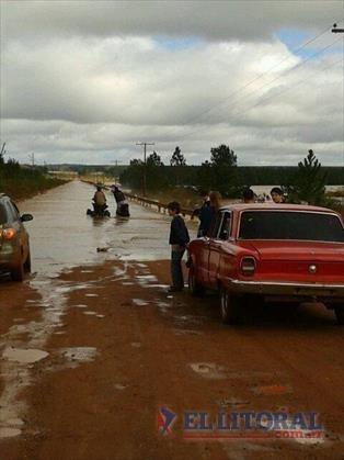 Cruce restringido en la Ruta 94, a la altura de arroyo Ciriaco, y complicaciones en otras vías