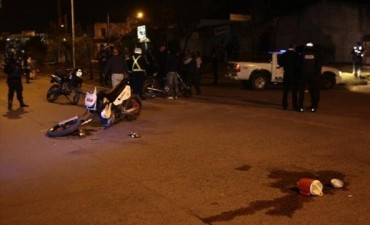 Motociclistas heridos en brutal accidente