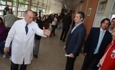 Autoridades visitaron el Pediátrico para chequear el estado edilicio e inversión