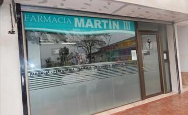 Violento asalto en una farmacia de Santo Tomé