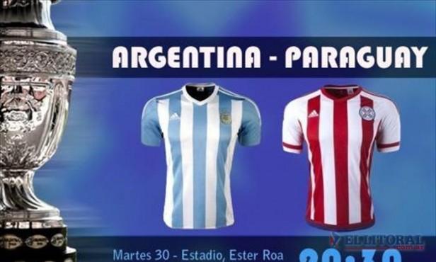 Argentina se enfrenta con Paraguay en busca de la final de la Copa América
