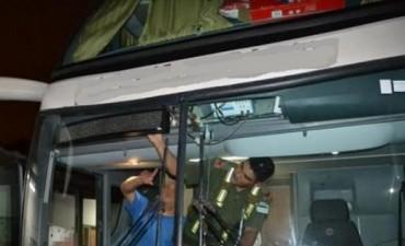 Choferes de un micro detenidos con celulares valuados en un millón de pesos