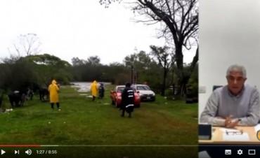 20 Familias Evacuadas hasta el momento.