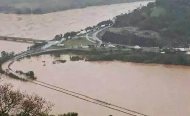 Alerta en Santo Tomé y la zona, el río Uruguay podría alcanzar los 15 mtrs. San Borja decretó la emergencia