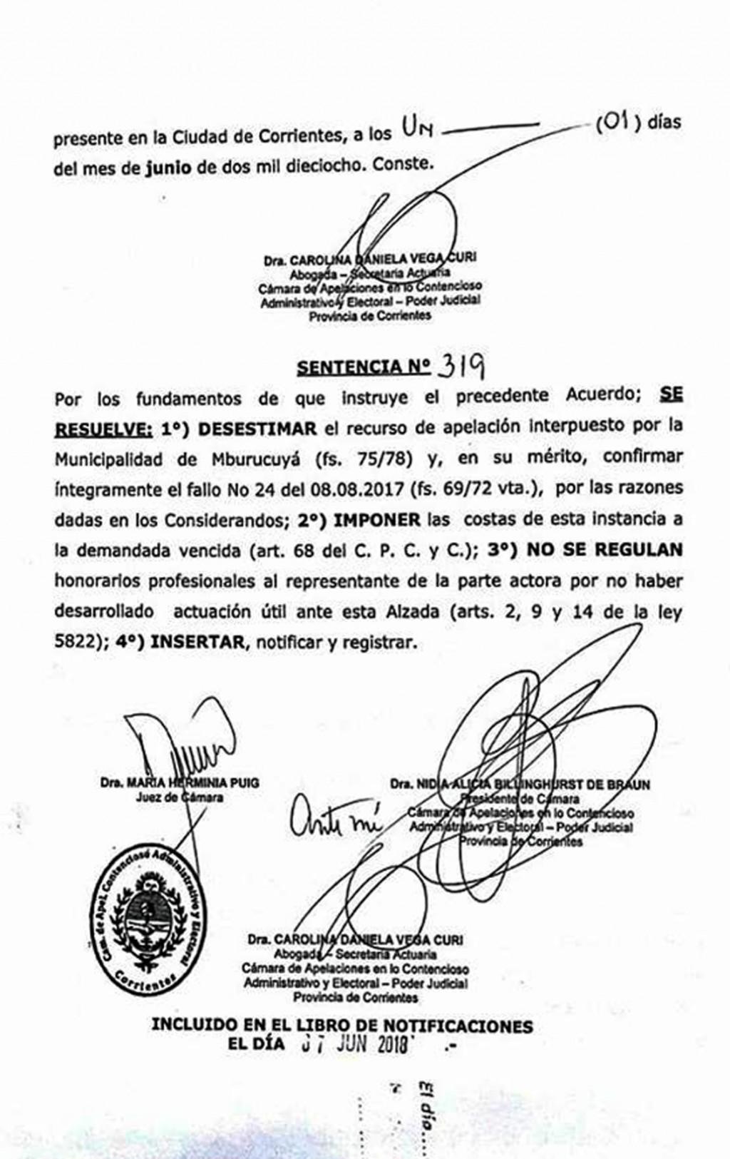 Revés judicial para Guastavino