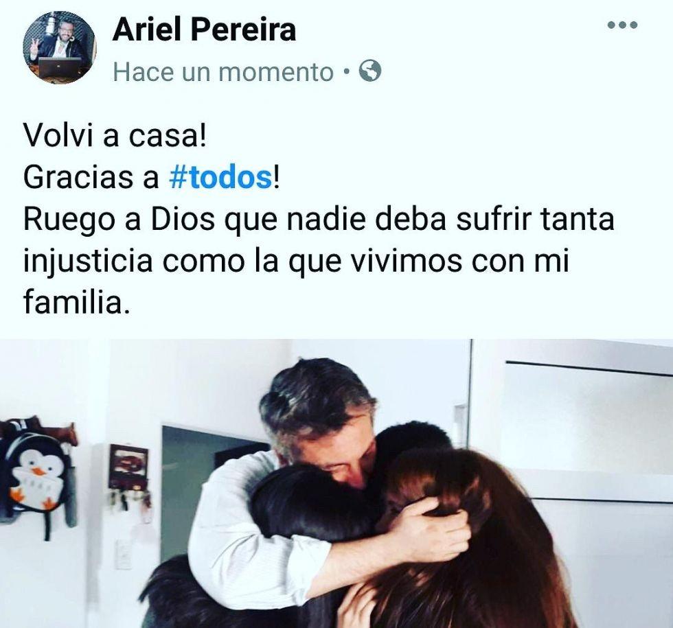 El ex concejal goyano Ariel Pereira recuperó la librtad