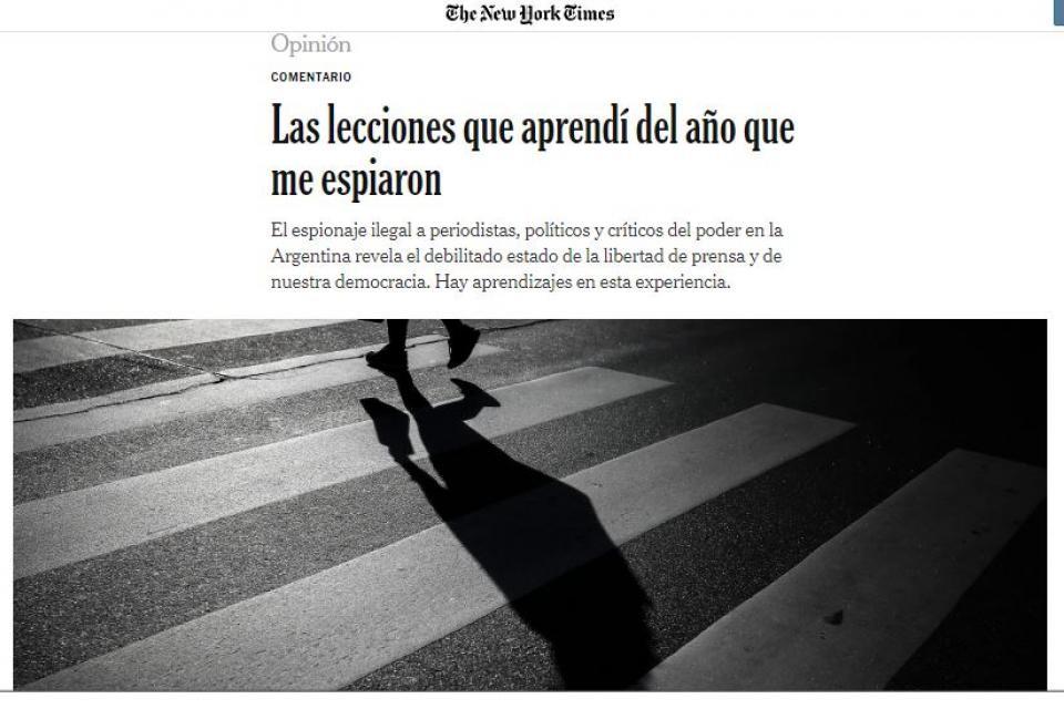 El espionaje ilegal del macrismo llegó a las páginas del New York Times