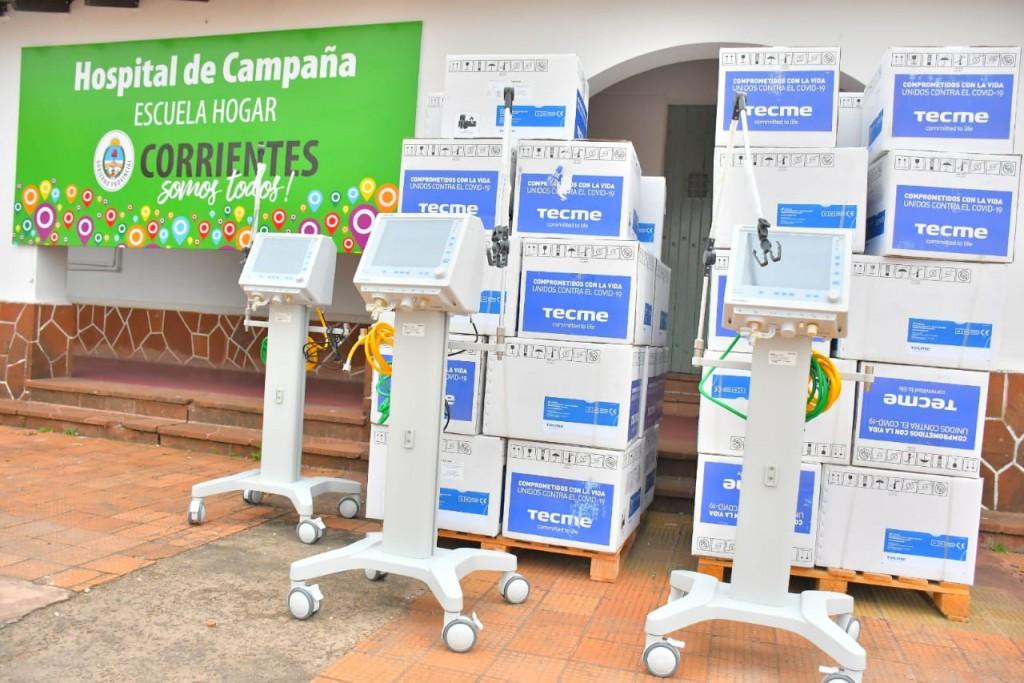 Llegaron 50 nuevos respiradores al Hospital de Campaña