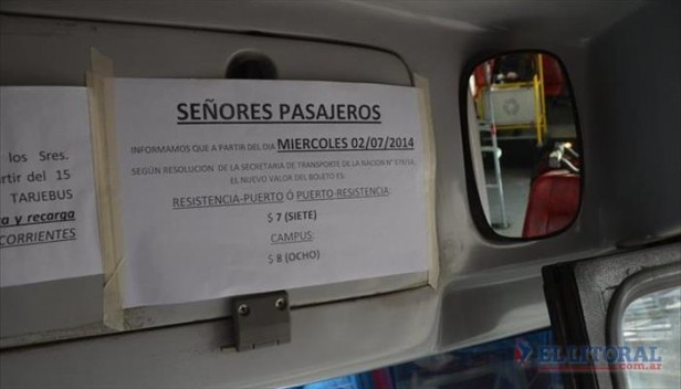 Hoy sube el boleto del Chaco-Corrientes pero volverán a reclamar ante la Justicia