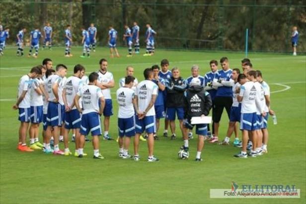 La Selección va a Río y realiza la última práctica